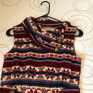 ModCloth Fair Isle cowlneck dress